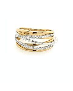 14K Bicolor Briljant Ring
