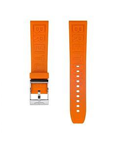 22mm oranje rubber Diver Pro met gesp ( inclusief sluiting)