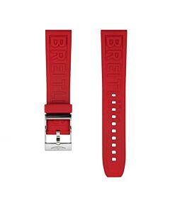 22mm rood rubber Diver Pro met gesp ( inclusief sluiting)