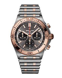 Chronomat B01 42 steel & 18k red gold - grey