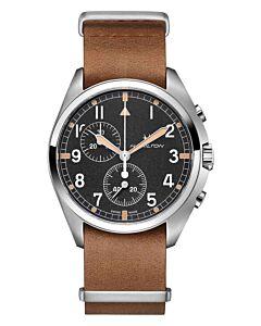 Hamilton khaki pilot pioneer chrono quartz H76522531